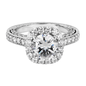 Jack Kelége platinum diamond halo engagement ring - KPR775