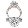 Jack Kelége platinum diamond halo engagement ring - KPR775
