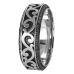 18k White/Black Rhodium - KGBD185