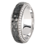 18k White Gold / Black Rhodium - KGBD125-2