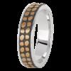 Jack Kelége men's black rhodium wedding ring - KGBD150
