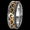 Jack Kelége 18k gold mens wedding ring - KGBD185-Y