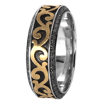18k White / Yellow Gold / Black Rhodium - KGBD185-Y