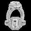 Jack Kelége emerald cut diamond engagement ring - KGR1007