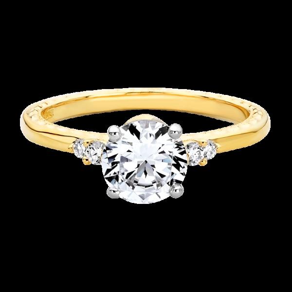 Jack Kelége diamond side stone engagement ring - KGR1154y