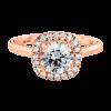 Jack Kelége rose gold diamond halo engagement ring - KGR1156