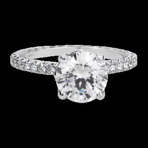 Jack Kelége diamond pavé engagement ring KGR1220