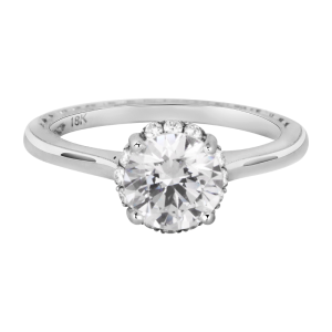 Jack Kelége diamond solitaire hidden halo engagement ring KGR1160