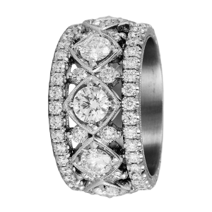 Jack Kelége diamond wedding band ring - KPBD769