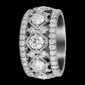 Jack Kelége diamond wedding band ring - KPBD769