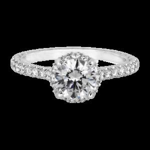 Jack Kelége diamond pave solitaire engagement ring KGR1161