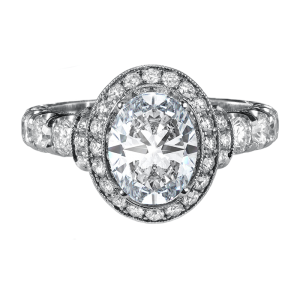 Jack Kelége oval diamond engagement ring - KGR1013