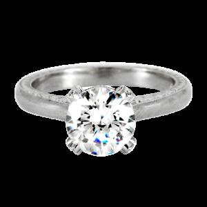 Jack Kelége platinum diamond solitaire engagement ring - KPR550