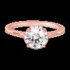 Jack Kelége rose gold diamond solitaire engagement ring KGR1160