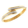 Jack Kelége diamond bracelet set in 18k yellow gold