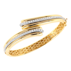 Jack Kelége diamond bracelet set in 18k yellow gold