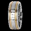 Jack Kelége 18k gold men's wedding ring