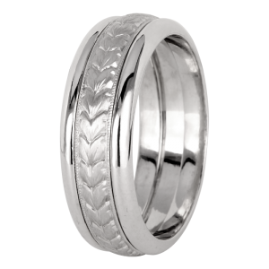 Jack Kelége men's platinum wedding band