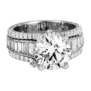 Jack Kelége platinum diamond engagement ring - KPR604