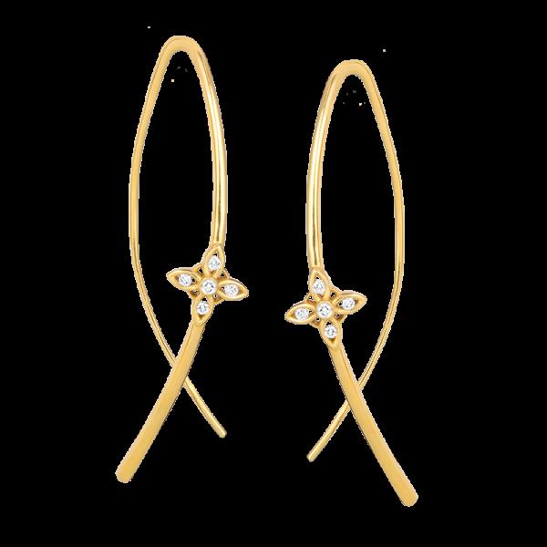 Jack Kelége diamond drop earrings - KGE211Y