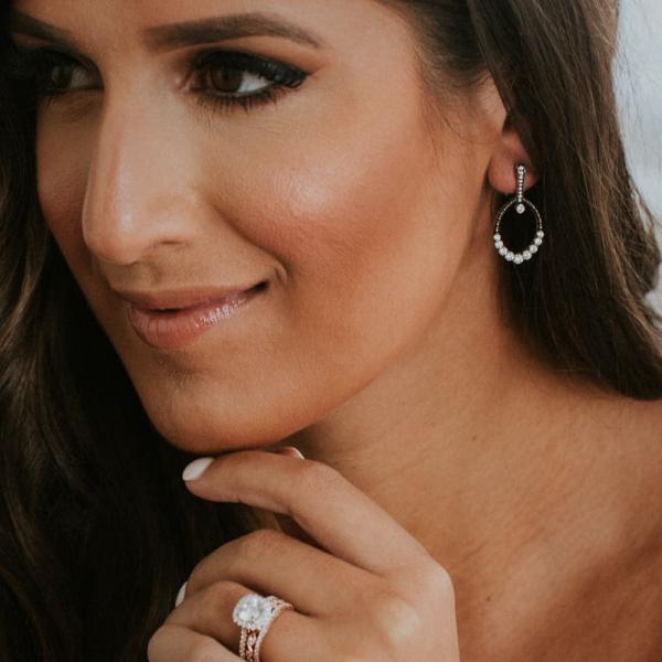 Jack Kelége black rhodium diamond earrings - KGE139