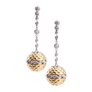 Jack Kelége diamond drop earrings - KGE124