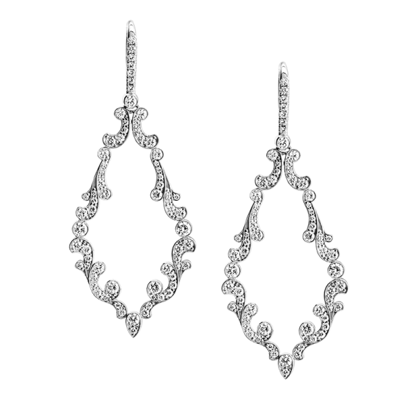 Jack Kelége diamond drop earrings - KGE220