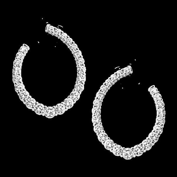 Jack Kelége diamond hoop earrings KGE194