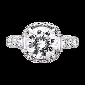 Jack Kelége diamond engagement ring set in platinum - KPR740