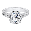Jack Kelége diamond engagement ring set in platinum - KPG798