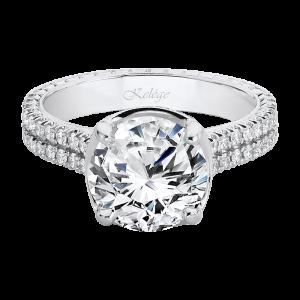 Jack Kelége diamond engagement ring set in platinum - KPG798