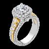 Jack Kelége diamond engagement ring set in platinum & 18k yellow gold - KPR802Y