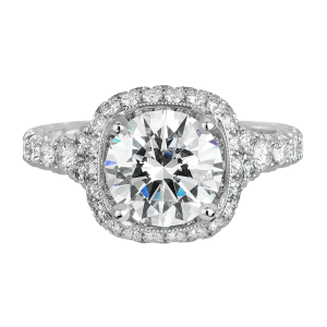 Jack Kelége diamond halo engagement ring KGR1046