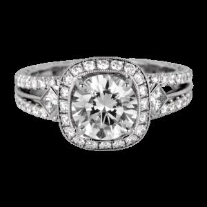 Jack Kelége platinum diamond engagement ring - KPR533