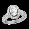 Jack Kelége platinum oval diamond engagement ring - KPR375