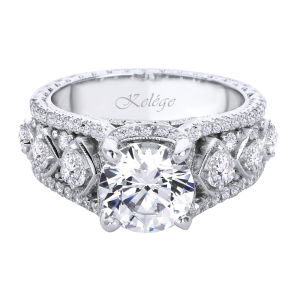 Jack Kelége diamond engagement ring set in platinum - KPR653