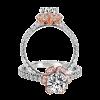 Jack Kelége rose gold accent diamond engagement ring - KGR1068-1
