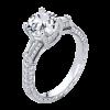 Jack Kelége diamond engagement ring with side baguettes set in platinum - KPR787