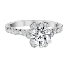Jack Kelége diamond halo engagement ring - KGR1068