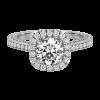 Jack Kelége diamond halo engagement ring - KGR1120
