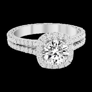 Jack Kelége diamond halo engagement ring - KGR1147