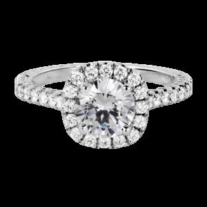Jack Kelége diamond halo engagement ring - KGR1148