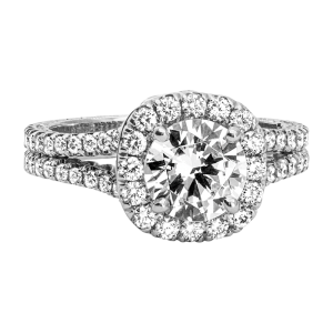 Jack Kelége diamond halo engagement ring - KGR1151