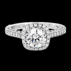 Jack Kelége diamond halo engagement ring - KGR1199