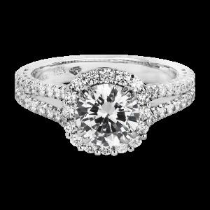 Jack Kelége diamond halo split shank engagement ring KGR1123