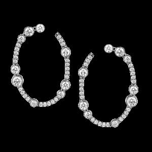 Jack Kelége diamond hoop earrings - KGE193