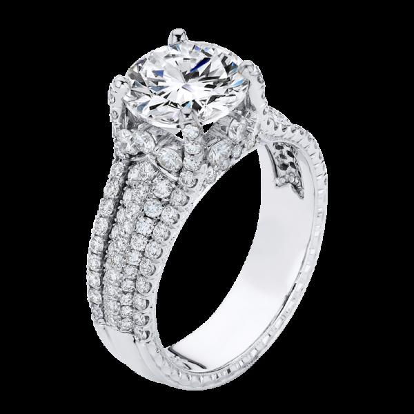 Jack Kelége diamond pavé engagement ring - KGR1230