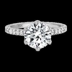 Jack Kelege diamond solitaire engagement ring - KGR1172