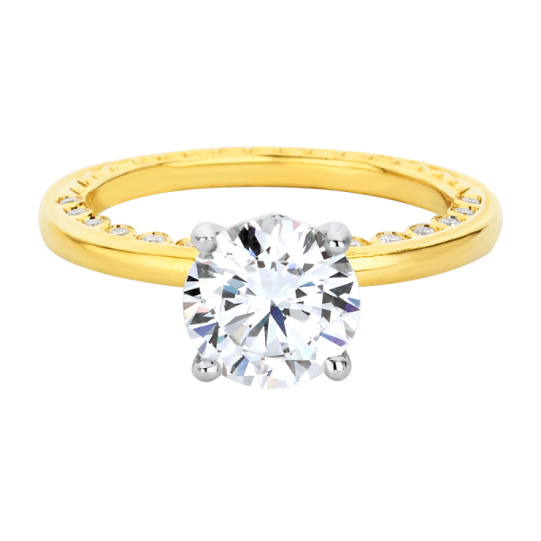 Jack Kelége diamond solitaire engagement ring in 18k yellow gold - KGR1222Y