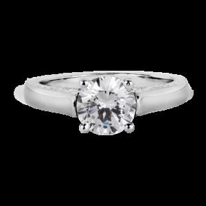 Jack Kelége platinum & diamond solitaire engagement ring KPR252